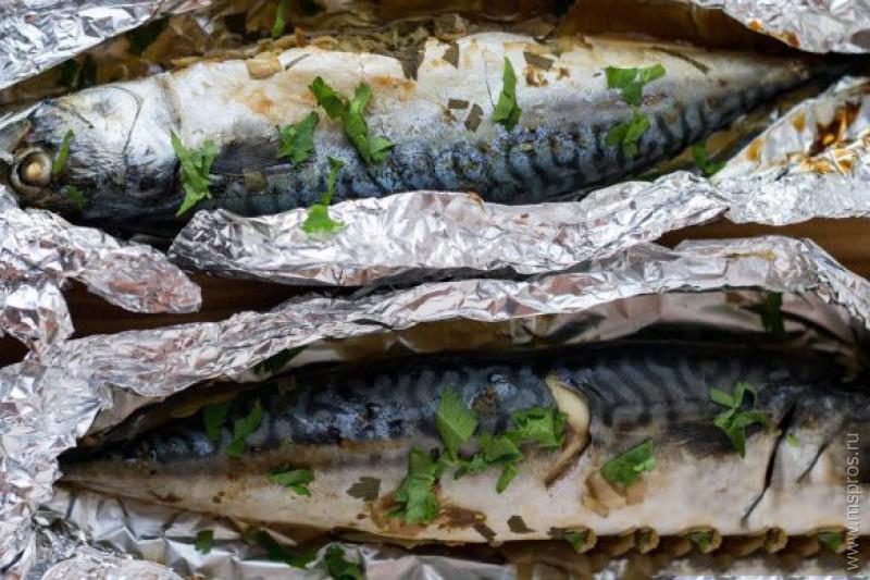 скумбрия запеченная в фольге пошаговый рецепт с фото