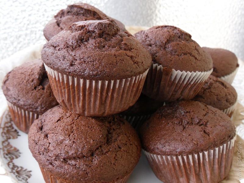 Шоколадные кексы с какао рецепт с фото